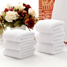 Wholesale Towel White Hands - 4 Size Brilliant White Soft Ring Face Towel Hand Towel Cotton Washcloth for Women Gift 10pcs lot DEC059