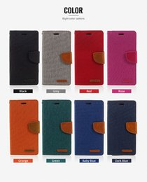 Wholesale Iphone Mercury Cover - MERCURY GOOSPERY Wallet Leather PU TPU Hybrid Flip Cover with Card Slot for iphone 6 6plus 7 7plus Samsuung S6 S7 S7 edge S8 S8 plus