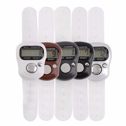 Wholesale Digital Hand Held Lcd Counter - Wholesale-2Pcs Mini Digit LCD Electronic Digital Golf Finger Hand Held Tally Row Counter