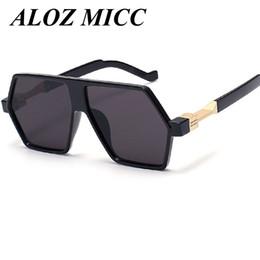 Wholesale personality glasses for women - ALOZ MICC Brand Sunglasses For Men Drive Big Frame Sunglasses Unique Personality Alloy Leg High Quality Vintage Glasses UV400 A118