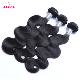 unprocessed human hair natural wavy Coupons - Peruvian Virgin Hair Weave Body Wave Wavy 3 4 Bundles Lot Unprocessed 7A Peruvian Remy Human Hair Extensions Natural Black 1B# Double Wefts
