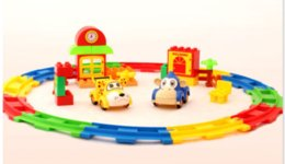 Wholesale Innovation Cars - Kid Toys Electric Rail Car Toy Puzzle Assembling Toy Track Car Colorful Animal Car DIY By Your Innovation