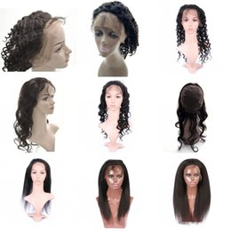 Wholesale Yaki Body - Brazilian Virgin Hair 360 Lace Frontal Body Deep Loose Water Wave Straight Kinky Straight Yaki 360 Frontal 130% Density FDSHINE