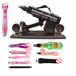Wholesale Masturbation Machine Shipping - Free Shipping Luxury Automatic Sex Machine Gun Set for Men and Women,Making Love Machine with Male Masturbation Cup and Big Dildo Toys