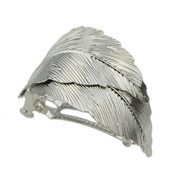 Wholesale Ladies Alloy Hair Clips - New Hairwear Hair Jewelry Fashion Gold-Color Silver Color Leaf Hairgrips Hair Accessories for Fashion Lady Girl