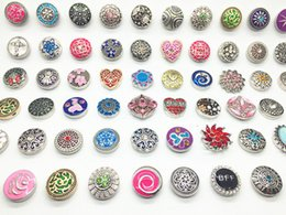 Wholesale Clasps Hooks - New arriver assorted Interchangeable 18mm snaps buttons Metral Charm Clasps Diy Ginger Snaps Jewelry