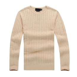 Wholesale Yellow Double Neck - Free shipping 2016 new Style high quality polo brand men's winter twist sweater knit cotton sweater jumper pullover sweater fashion