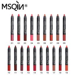 Удивительная косметика онлайн-Wholesale- 18 colors Professional Cosmetic Smooth Lipstick Pen Bright Natural Long Lasting Lips  amazing lip tint