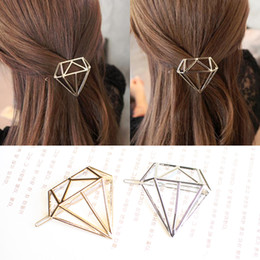 Wholesale Wholesale Hair Sale China - Hot Sale Metal Diamond Dia Hair Pin Clip Boho Style Lovely Girls Womens Children Golden Silver Hair Accessories Headpiece Hairpins Wholesale