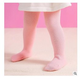 Wholesale Thick Cotton Tights Girls - Newborn Clothes Winter Baby Girl Tights Thick Warm Cotton Infant Solid 7 Colors Leg Warmers Leggings Baby Stockings Christmas Gifts