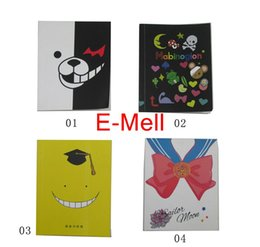 Wholesale Anime Journal - Wholesale- Cute Notebook Anime cartoon Sailor Moon Danganronpa Planner Journal Record Stationery Office School Supplies