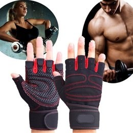 Wholesale Men Dumbbell - Men And Women Gym Gloves Half Finger Breathable Weightlifting Fitness Sport Gloves Dumbbell Men Women Weight lifting Glove