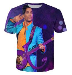 männer charakter t-shirts Rabatt Lässiges 3d Druck-Zeichentrickfilm-Figur-T-Shirt Prinz-lila Regen-T-Shirt Sommer-Art übersteigt T-Stück T-Shirt AA168 der Männer / der Frauen