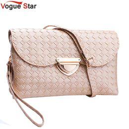 Wholesale Vogue Clutch Wholesale - Wholesale-Vogue Star Knitting Women Clutches Casual Female Clutch Bags Versatile summer Women Messenger Bag Mini Cross Body Bag Tote LS340