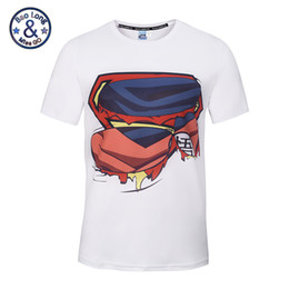 Wholesale Superman T Shirt Prints - White color tees high quality 3d print superman logo hotsale t-shirts wholesale fashion popular printed central sweatshirts free shipping