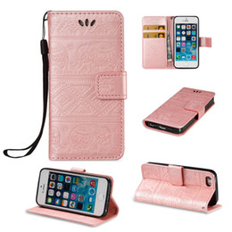 Wholesale Elegant Case For Iphone - For iPhone 5 5S Phone Case iPhone SE Cover Flip Wallet Cases Stand Covers Cute Elegant Premium PU Leather Shell with 2017 Hot