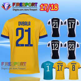 Wholesale Thailand quality New Juven home Away blue Camisetas De foot Yellow Soccer jersey MARCHISIO ZAZA DYBALA HIGUAIN Football shirt