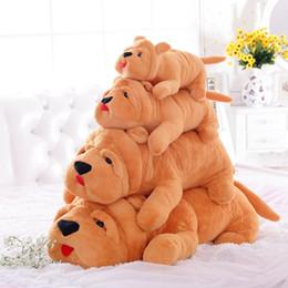 Wholesale Brown Dog Stuffed Animal - 2017 New Arrival 40-80cm Lovely Animal Shar Pei Dog Plush Toy Big Stuffed Dog Doll Kids Birthday Present Home Decor