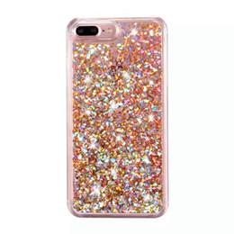 S6 блеск онлайн-Bling Case красочные мягкие TPU блеск Кристалл Case для iPhone 7 6 S Plus SE Samsung S7 S6 Edge работает зыбучие пески жидкость динамический Case