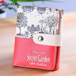 Wholesale Red Sketches - Wholesale- Brand Wallet Wallets Ladies Card Purse Female Carteras Mujer Monederos Women's Money Bag Short sketch Style Female Wallet
