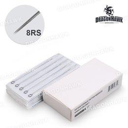 Wholesale Premade Tattoo Needles - Box Of 50PCS Round Shader Premade Sterilized Tattoo Needles Supply P-8RS*50
