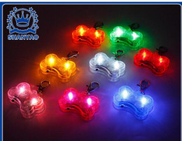Wholesale Bell Safety - 6 Colors Pet Dog Tag Pendant Safety Supplies LED Luminous Pendant Ornaments Glowing Pet Supplies Pets Tags