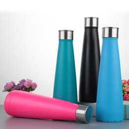 Wholesale Customized Stainless Steel Water Bottles - Hot Selling Water bottle Vacuum Cup Coke bottle 500 ML which enable creative 304 stainless steel vacuum keep-warm glass cup customized logo