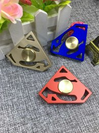 Wholesale Superman Sport Dhl - Newest Fidget Spinner EDC Hand Spinners Metal Alloy Superman Gem Decompression Anxiety Fingertips Gyro Tri Triangle Finger Toys Free DHL