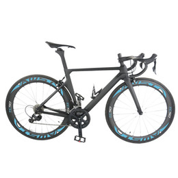 Wholesale Complete Bike Road - AWST new style full carbon complete bike T1000 UD full bike with R8000 groupset +wheels +handlebar+saddle sky blue frame free shipping