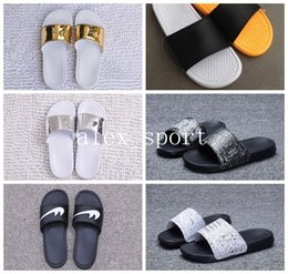 Wholesale High Beach Sandals - Wholesale 2017 New Benassi Jdi Slippers casual shoes print sandals outdoor beach high quality free shipping size 36-45