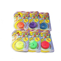 Wholesale Magic Cards Wholesale - 400pcs Magic Worm Twisty Plush Wiggle Stuffed Suction card pack Trick stage children Toy mentalism