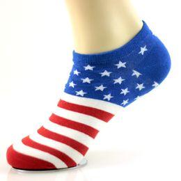 Wholesale Golf Flags - 2016 Fashion Men Socks Women sox comfortable Cotton Flag pattern Men ankle socks calcetines hombre 10 countries flag design