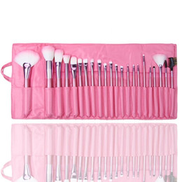 Wholesale 22pcs Makeup Brushes - 2017 Cheap wholesale Brand New 22pcs Soft Cosmetic Makeup Brush Set Pink Pouch Bag Case for women