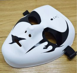 Wholesale Ghost Mask Toys - Halloween Party Hip-Hop Masks School Teenagers Masquerade Mask Hand Painted Performance Masks Ghost Decoration DHL Shipping