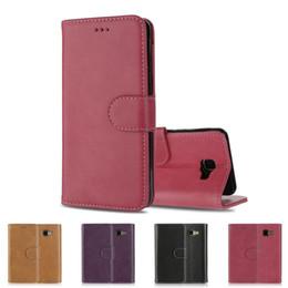 Wholesale Galaxy Wallet Retro - New Retro Real Genuine Leather Flip Wallet Phone Defender Bumper Case Cover For Samsung Galaxy A5(2016) Galaxy A510