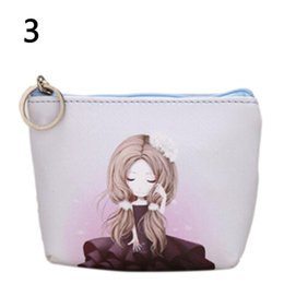 Wholesale Wholesale Leather Small Coin Pouches - Wholesale- PU Leather Women Cartoon Coin Purse Children Small Wallet Boy Girls Change Pocket Pouch Bag Keys Case
