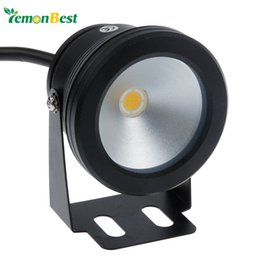 Wholesale Black Pool Lights - Wholesale-Led Underwater Light 10W 12v Cool White Warm White Waterproof IP68 Fountain Pool Lamp Black Cover Body For Outdoor