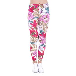 Wholesale Color Paradise - Girl Leggings Paradise Flower 3D Graphic Print Women Floral Skinny Stretchy Pants Runner Casual Jeggings Yoga Pencil Fit Trousers (J43479)