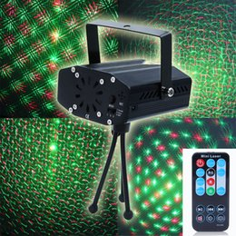 Wholesale Light Show Led Remote Controlled - Wholesale-LemonBest Portable multi LED bulb Mini Laser Projector DJ Disco Stage Light Xmas Party Lighting Show With Remote Control