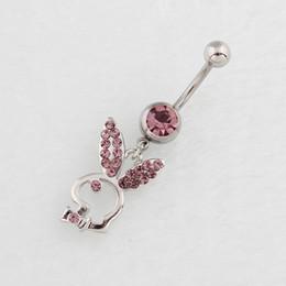 2019 falsos piercings en el ombligo Piercing joyería del cuerpo Ombligo Anillos del ombligo Piercing del cuerpo Joyería Cuelga Accesorios Moda Encanto Conejo