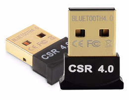 Wholesale External Usb Bluetooth For Laptop - Mini USB Bluetooth Adapter V4.0 CSR Dual Mode Wireless Bluetooth Dongle 4.0 Transmitter For Windows 10 8 Win 7 Vista XP 32 64Bit
