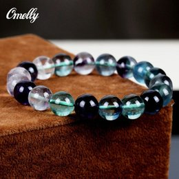 Wholesale Beaded Discount Jewelry - Fluorite Stone,Natural Real Gemstone Bracelet Semi-Precious Precious Stones Beads Bangles Women Party Jewelry Wholesale Discount Cheap!