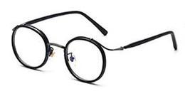 Wholesale Titanium Alloy Eyeglasses Frame - Vintage round tortoise eyeglasses optical men brand clear circle anti radiation glasses computer glasses women uv oculos geek