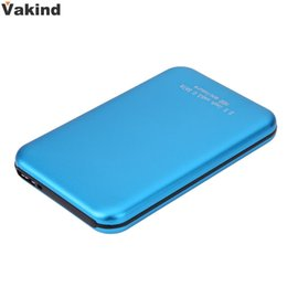 Wholesale 3tb Hdd - Wholesale- New 2.5 Inch High Speed 3TB USB3.0 Micro USB to SATA External Storage HDD HD Blue Aluminium Case Box Hard Disk Drive Enclosure