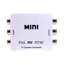 Wholesale Hd Video Format - PALNTSCSECAM to PDPPALNTSC Mini HD PAL NTSC Mutual Conversion TV System Converter Adapter for Single-format Video Equipment