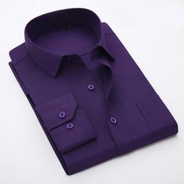 Wholesale Large Mens Dress Shirts - Wholesale- Big Mens Business Shirts Plus size Long-sleeved Casual Dress shirt Large size 7xl 8XL men's Formal clothes shirt