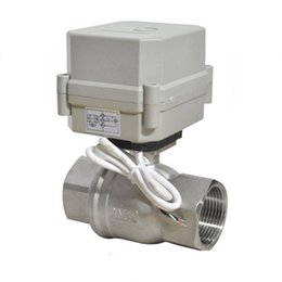 Wholesale Stainless Electric Ball Valve - Factory sales Free ship 2Ways DN15 1 2'' DC7-35V 3wires SS304 ball valve with open close indicator and manual override thermo electric valve