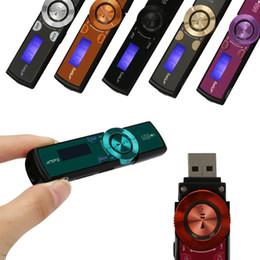 Wholesale Mini Mp3 Player Pen - Wholesale- Mini Clip Mp3 USB LCD Screen Support 8GB Flash TF Player MP3 Music FM Radio Mp3 Hifi