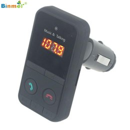 Wholesale Usb Radio Transmitter Car - Wholesale- Binmer Wireless Bluetooth FM Transmitter Modulator Car Kit MP3 Player SD USB LCD St15