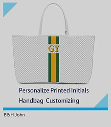 Wholesale Customized Letter - Customized personalization High Quality Brand Designer handbag customizing GY bag personalize printed initials fee services